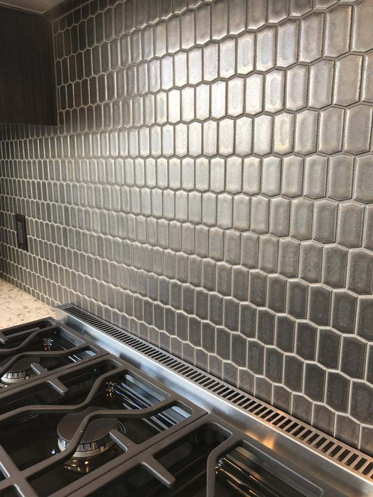 Image of a tile installation project done by SDA Flooring INC