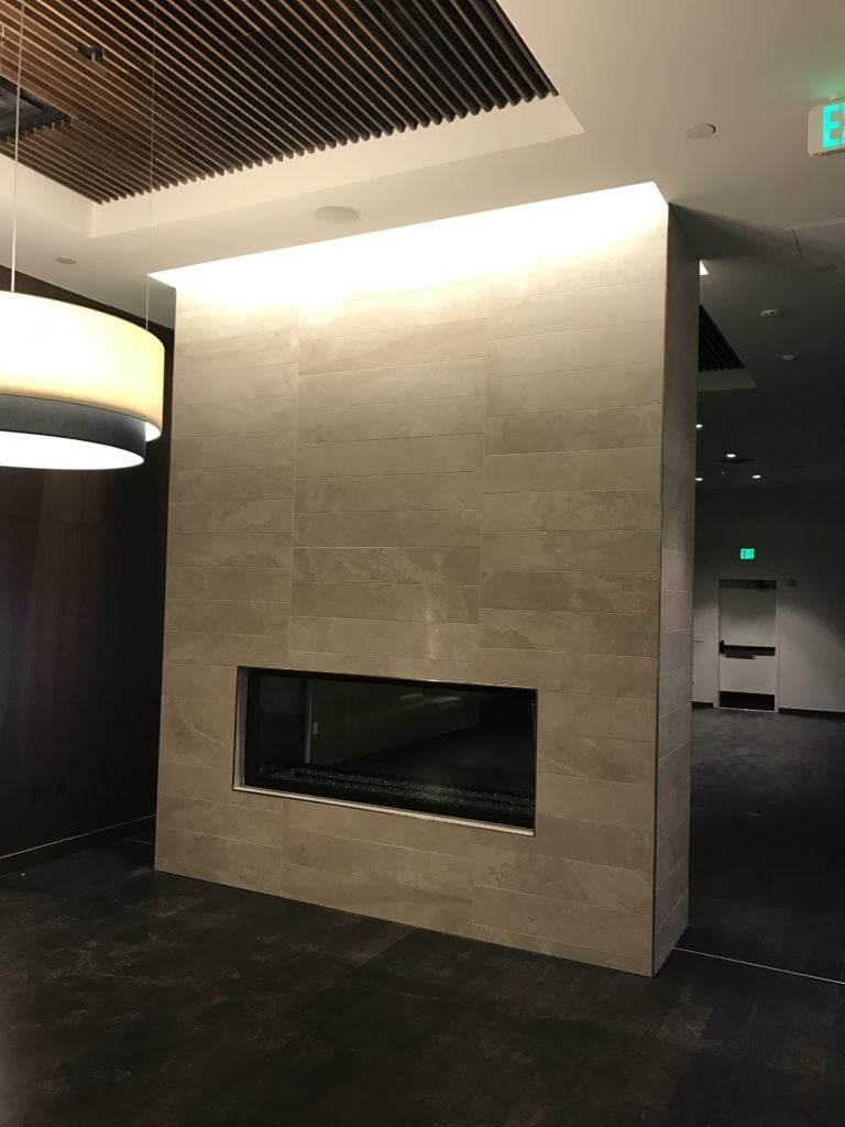Image of SDA Flooring fireplace tile installation