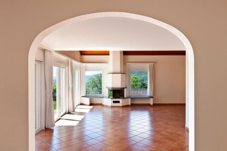Terracotta tile flooring